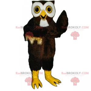 Owl mascot with big eyes - Redbrokoly.com