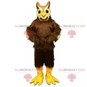 Maskot sova s dlouhým peřím - Redbrokoly.com