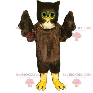 Maskot hnědá sova - Redbrokoly.com