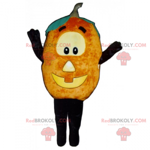 Mascotte di zucca con la faccia di Halloween - Redbrokoly.com