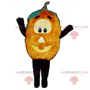 Pompoenmascotte met Halloween-gezicht - Redbrokoly.com