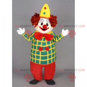 Gul hat klovn maskot - Redbrokoly.com