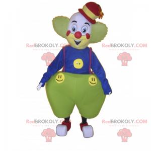 Clown Maskottchen mit weiten Hosen - Redbrokoly.com