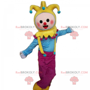 Clown mascotte met bellen op de motorkap - Redbrokoly.com
