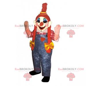 Clown maskot med dyner - Redbrokoly.com