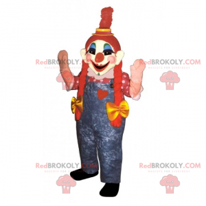 Clown Maskottchen mit Steppdecken - Redbrokoly.com