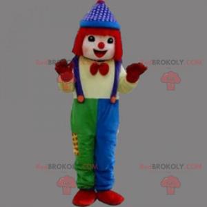 Clown maskot med rødt hår - Redbrokoly.com