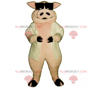 Maskotka świnia i ciemne okulary - Redbrokoly.com