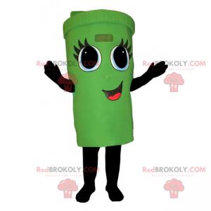 Maskot kontejneru s usměvavou tváří - Redbrokoly.com