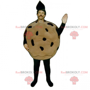 Mascote de biscoito de chocolate - Redbrokoly.com