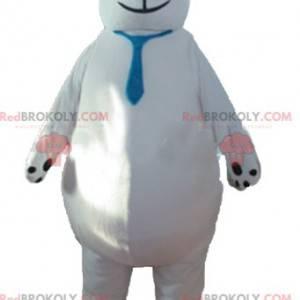 Großes Eisbärenmaskottchen mit blauer Krawatte - Redbrokoly.com