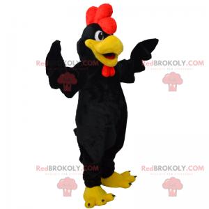 Black rooster mascot - Redbrokoly.com