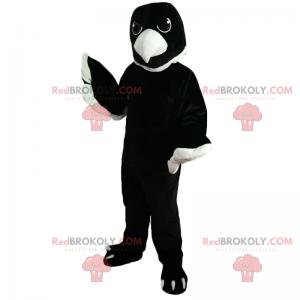Raven maskot med hvitt nebb - Redbrokoly.com