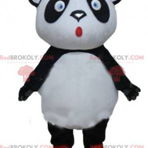 Stor svart og hvit pandamaskott med blå øyne - Redbrokoly.com