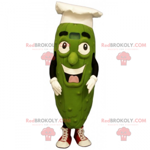 Pickle mascot with chef's hat - Redbrokoly.com