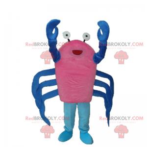 Krabbenmaskottchen mit blauen Krallen - Redbrokoly.com