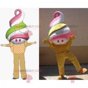 Smiling and colorful ice cream mascot - Redbrokoly.com