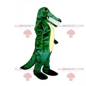 Maskot s velkými zuby krokodýla - Redbrokoly.com