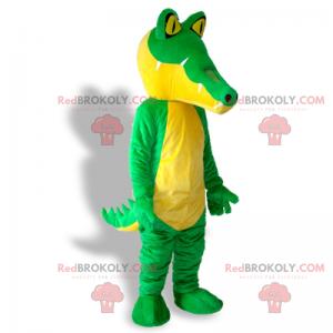 Krokodilmaskottchen mit gelben Augen - Redbrokoly.com
