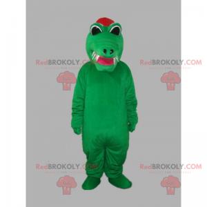 Maskot krokodýla s ostrými zuby - Redbrokoly.com