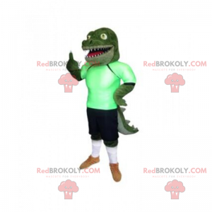 Maskotka krokodyl w stroju do piłki nożnej - Redbrokoly.com