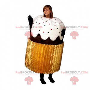 Schokoladen Cupcake Maskottchen - Redbrokoly.com