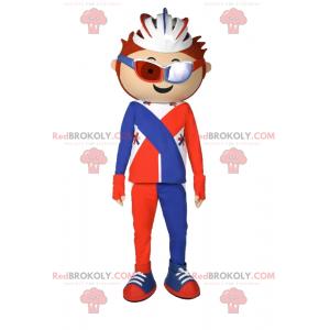 Rowerzysta maskotka z kaskiem - Redbrokoly.com