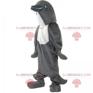Mascote golfinho cinza - Redbrokoly.com