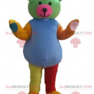 Multicolored teddy bear mascot - Redbrokoly.com
