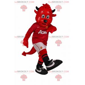 Maskotka imp w stroju piłkarskim - Redbrokoly.com