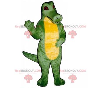 Gelbes Bauch Dino Maskottchen mit roten Augen - Redbrokoly.com