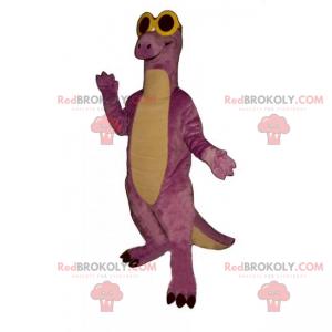Dino-Maskottchen mit dunkler Brille - Redbrokoly.com