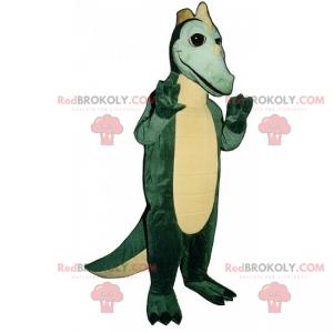 Dino mascot with little horns - Redbrokoly.com
