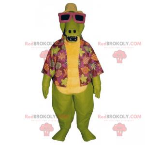 Dino-Maskottchen in Strandkleidung - Redbrokoly.com