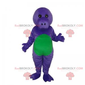 Fioletowo-zielona maskotka Dino bez uszu - Redbrokoly.com
