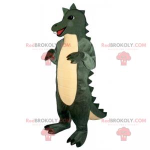 Lächelndes Dino-Maskottchen mit hübschem Wappen - Redbrokoly.com