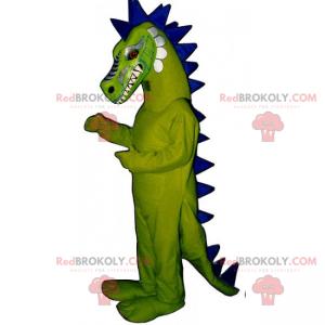 Dinosaurier-Maskottchen mit langem Wappen - Redbrokoly.com