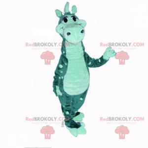 Zweifarbiges Dinosaurier-Maskottchen - Redbrokoly.com