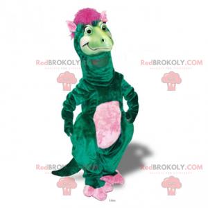 Dinosaurier-Maskottchen mit rosa Haaren - Redbrokoly.com
