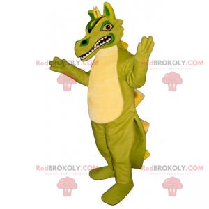 Big tooth dinosaur mascot - Redbrokoly.com