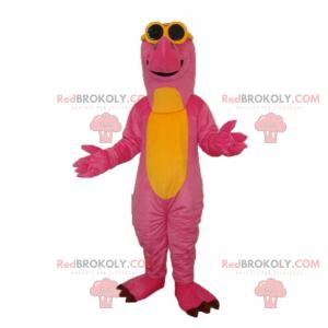 Dinozaur maskotka z okularami przeciwsłonecznymi -