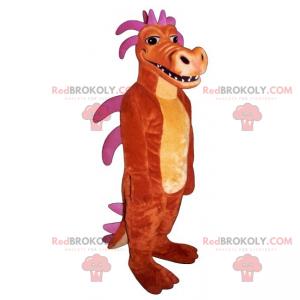 Maskot dinosaura s růžovými hroty - Redbrokoly.com