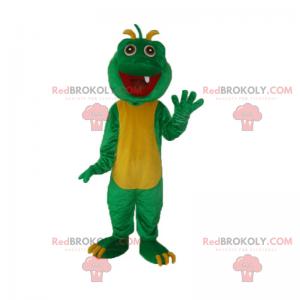 Dinosaur mascot with a tooth - Redbrokoly.com
