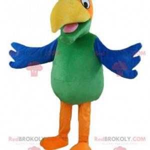 Maskot docela barevný papoušek - Redbrokoly.com