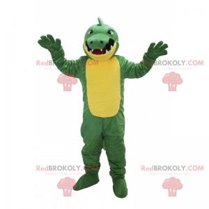 Žlutý a zelený dinosaurus maskot - Redbrokoly.com