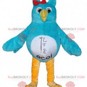 Eulenmaskottchen blau weiß und gelb - Redbrokoly.com