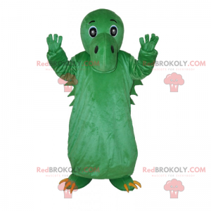 Zelený dinosaur maskot bez hřebenu - Redbrokoly.com