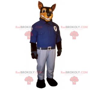 Doberman maskot kledd som en politimann - Redbrokoly.com