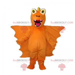 Drachenmaskottchen mit sehr großen Flügeln - Redbrokoly.com