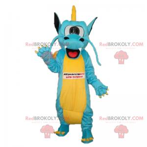 Dragon mascot with small crest - Redbrokoly.com